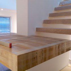 Freitragende freischwebende Treppe