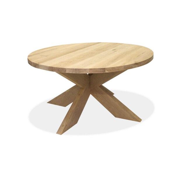 Esstisch Eiche Tischplatte rund Gestell XX-Holz Modell Estland